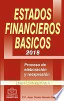 ESTADOS FINANCIEROS BÁSICOS 2018 PROCESO DE ELABORACIÓN Y REEXPRESIÓN EPUB