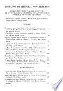 Estudios de historia novohispana