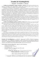 Estudios de sociolingüística