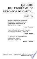 Estudios del programa de mercados de capital