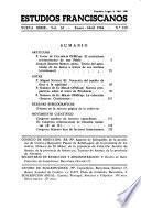 Estudios franciscanos