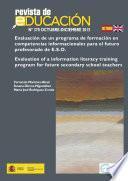 Evaluación de un programa de formación en competencias informacionales para el futuro profesorado de E.S.O.