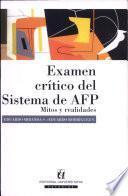 Examen crítico del sistema de AFP