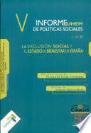 Exclusión social y estado de bienestar en España