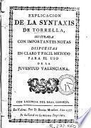 Explicacion de la Syntaxis de Torrella
