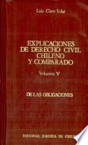 explicaciones de derecho civil chileno y comparado columen V