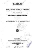 Fabulas de Esopo y Phedro, de Iriarte, y de Samaniego