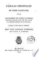 Fábulas originales en verso castellano