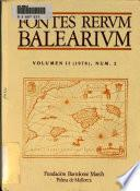 Fontes rerum balearium: 1978