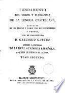 Fundamento del Vigor y elegancia de la lengua castellana