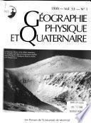Géographie Physique Et Quaternaire