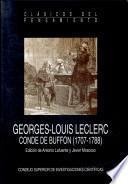 Georges-Louis Leclerc, Conde de Buffon, 1707-1788