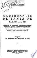 Gobernantes de Santa Fe desde 1810 hasta 1960