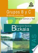 Grupos B Y C Diputacion Foral de Bizkaia. Instituto Foral de Asistencia Social. Temario Comun Y Test.e-book.