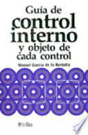 Guía de control interno y objeto de cada control