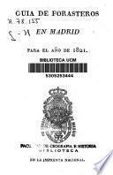 Guía de forasteros en Madrid para el año de 1821