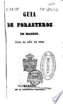 Guía de forasteros en Madrid para el año de 1854