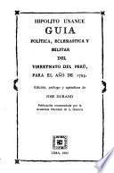 Guía política, eclesiástica y militar del Vireynato del Perú