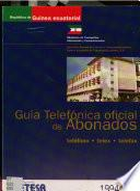 Guía telefónica oficial de abonados