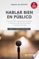 Hablar bien en público
