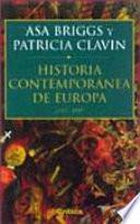 Historia contemporánea de Europa 1789-1989