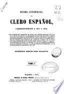 Historia contemporánea del clero español