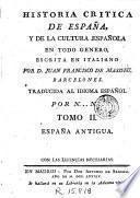Historia critica de España y de la cultura española, 2