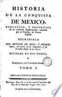 Historia de la conquista de Mexico, 1