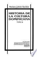 Historia de la cultura dominicana