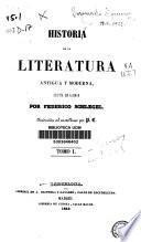 Historia de la literatura antigua y moderna