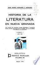 Historia de la literatura en Nueva Granada: 1538-1790