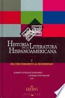 Historia de la literatura hispanoamericana: Del descubrimiento al modernismo