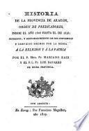 Historia de la provincia de Aragon de la orden de predicadores