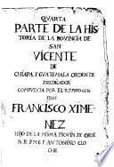 Historia de la provincia de San Vicente de Chiapa y Guatemala de la orden de Predicadores