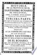 Historia De La Provincia Del Santo Rosario De Filipinas, Iapón Y China, De La Sagrada Orden De Predicadores