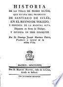 Historia de la villa de Pedro Muñoz