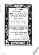 Historia de los reyes de Castilla y de Leon don Fernando el magno [&c. The title-leaf is a cancel].
