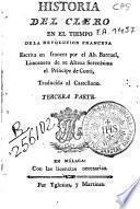 Historia del clero en el tiempo de la Revolución Francesa