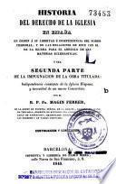 Historia del derecho de la Iglesia en España
