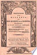 Historia del famoso cavallero Don Quijote de la Mancha