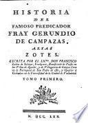 Historia del famoso predicador fray Gerundio de Campazas, alias Zotes, por Francisco Lobòn de Salazar