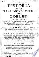 Historia del Real Monasterio de Poblet