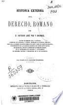 Historia externa del Derecho romano