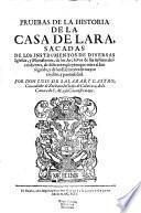 Historia Genealogica De La Casa De Lara
