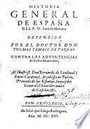 Historia general de España de Juan de Mariana defendida contra las advertencias de Pedro Mantuano
