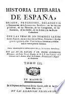 Historia literaria de Espana desde su primera Poblacion hasta nuestras dias (etc.) 3. ed