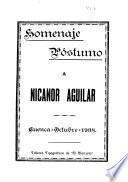 Homenaje póstumo a Nicanor Aguilar
