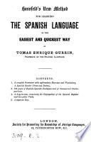 Hossfeld's new method for learning the Spanish language. [With] Key