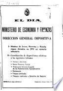 I [i. e. Primera] - Nómina de leyes, decretos y resoluciones dictados en 1971 en materia tributaria