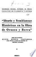 Ideario y semblanzas históricas en la obra de Orozco y Berra